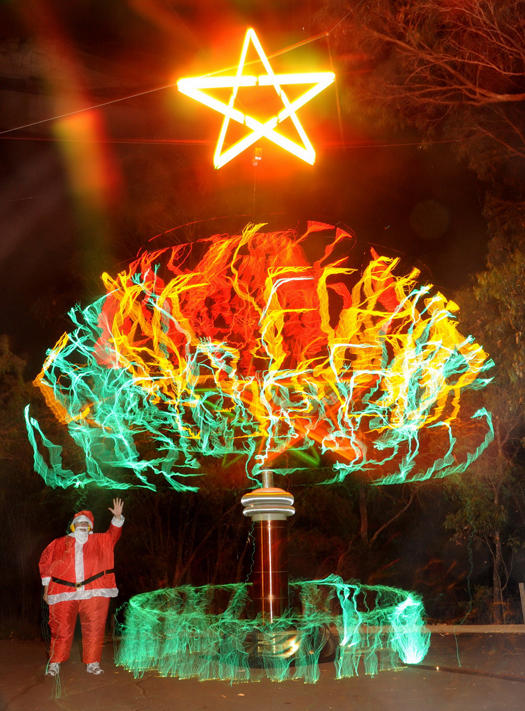Electrifying Christmas Tree