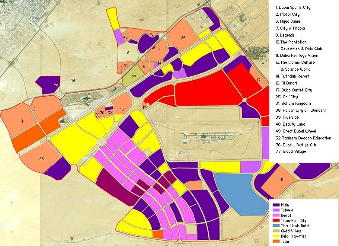 Dubailand map