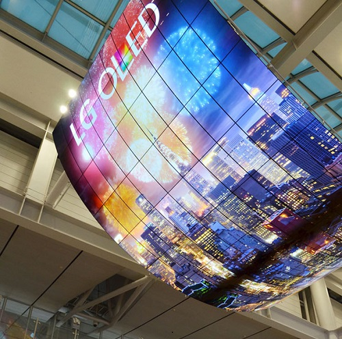 lg oled screen incheon airport seoul