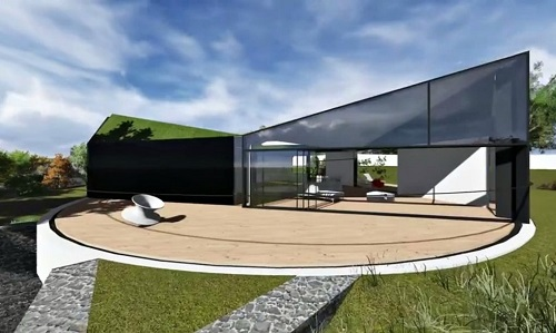 Devon house with a rotating roof by d haus company - Shape shifting house ...