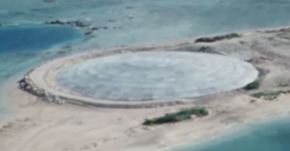 the dome at the enewetak atoll this concrete dome holds a leaking